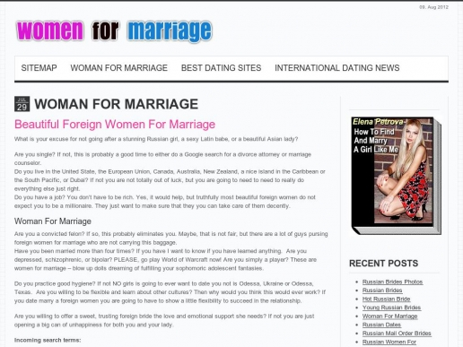 womanformarriage.com thumbnail