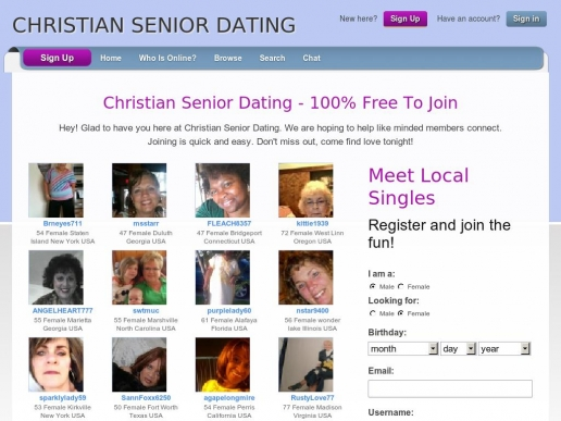 Free christian dating for seniors