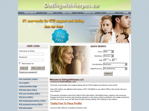 datingwithherpes.ca thumbnail