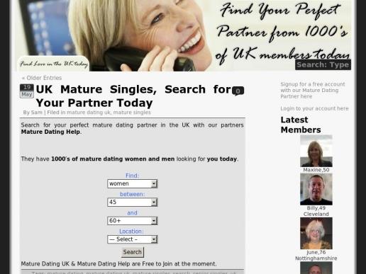 maturedatinguk.org thumbnail