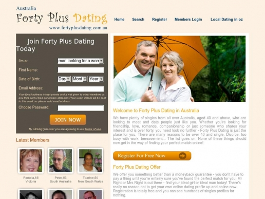 Forty something dating site