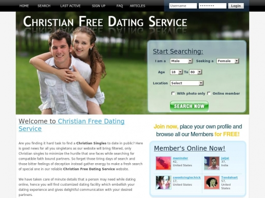 christian free dating
