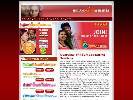list of indian dating websites Indian dating sites below is a complete list of all indian dating sites and apps that have been reviewed by our users and team these services offer singles a more culturally-specific experience based on ethnicity, allowing singles to search for those that may closely align with their cultural practices and preferences.