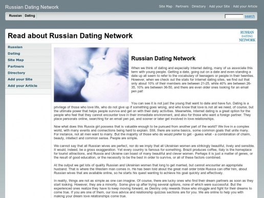 Russian dating network