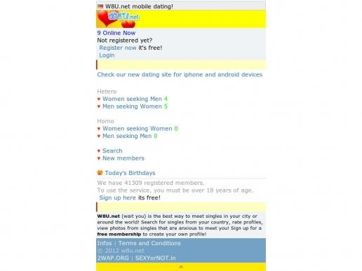 Login w8u net mobile dating