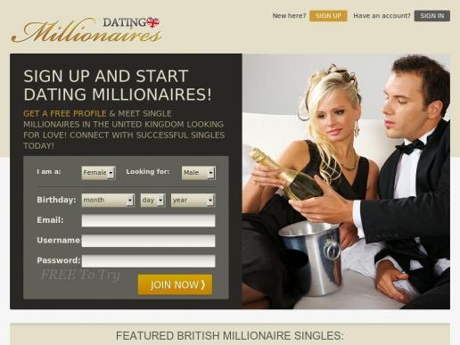 Free millionaire dating sites uk