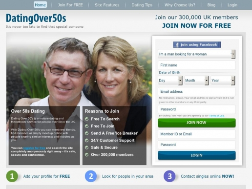 dating site for over 50s