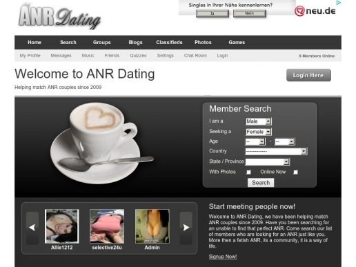anr dating sites Anr / abf relationship, or adult nursing relationship is a beautiful bond that a couple can share it can spark new life into a ps i apologize to those that have contacted me, but i am not a dating specialist, this is just a topic about the joys of one type of relationship finding someone is up to you.