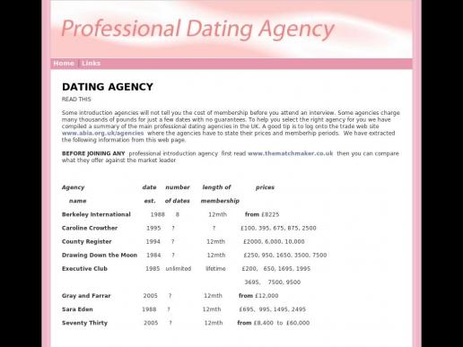 professionaldatingagency.co.uk thumbnail