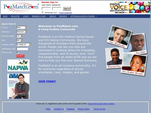 dating for hiv positive singles Welcome to pozmatchcom-- hiv positive dating since 1998 --pozmatch is a positivesinglescom owned hiv dating and social community people just like you who are interested in meeting others for friendship, companionship and of course, love.