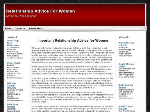 erelationshipadviceforwomen.net thumbnail