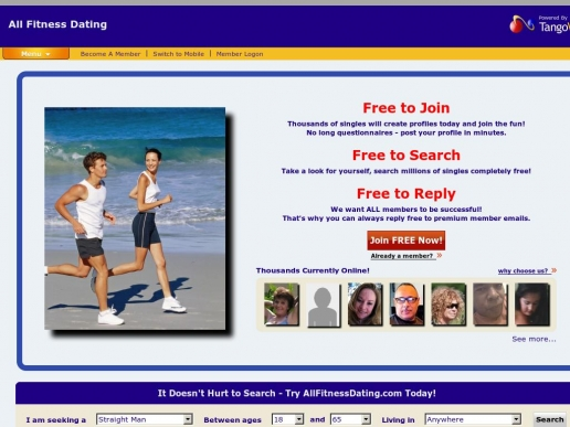 dating site for fitness singles If you are looking for inspiration to start your dating site for fitness enthusiasts, take a look at several major portals catering to this specific demographic fitness- singlescom is a site for sporty dating this website focuses on matching you with healthy and fit members who enjoy an active lifestyle.