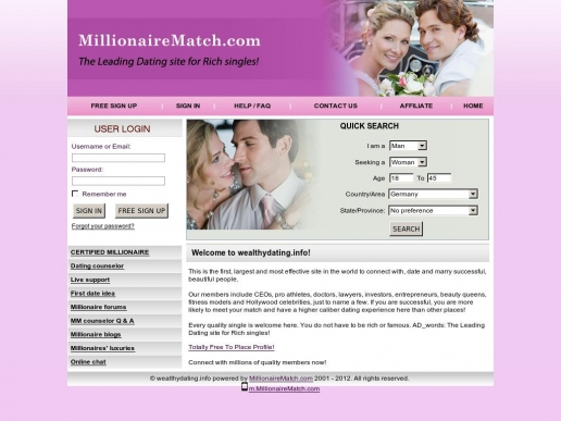 wealthydating.info thumbnail