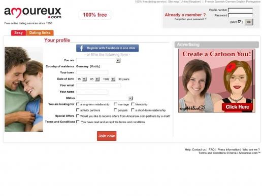 amoureux.com thumbnail