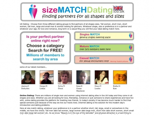 sizematchdating.co.uk thumbnail