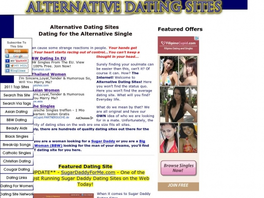 Alternative personals sites
