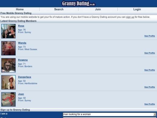 grannydating.co.uk thumbnail