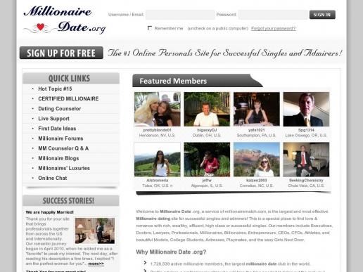 millionairedate.org thumbnail