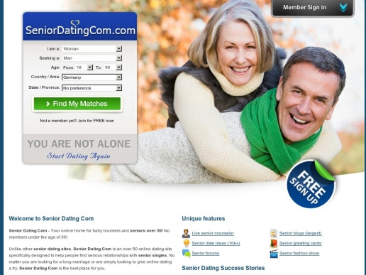 free singles dating sites for seniors Singles 50 and older are increasingly using online dating sites to find love and companionship here are 8 tips from aarp relationship expert dr pepper schwartz on how to best use these dating sites if you're looking for a free site, plentyoffishcom and nervecom are two of the larger ones enlist your friends ask for.