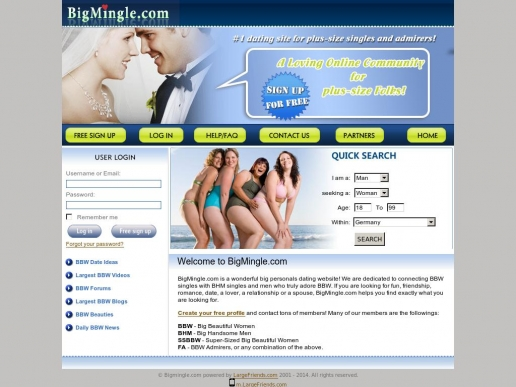bigmingle.com thumbnail