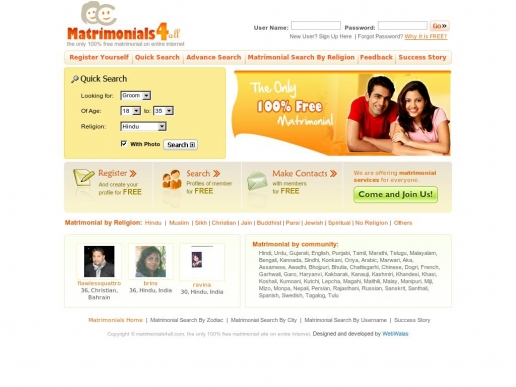 matrimonials4all.com thumbnail