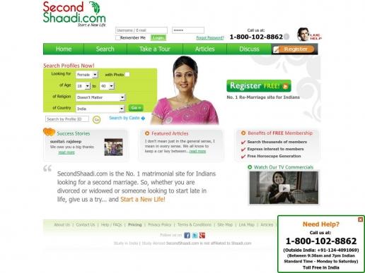 secondshaadi.com thumbnail