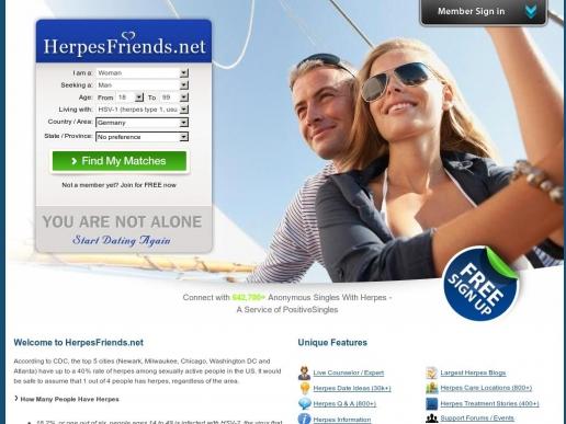 herpesfriends.net thumbnail